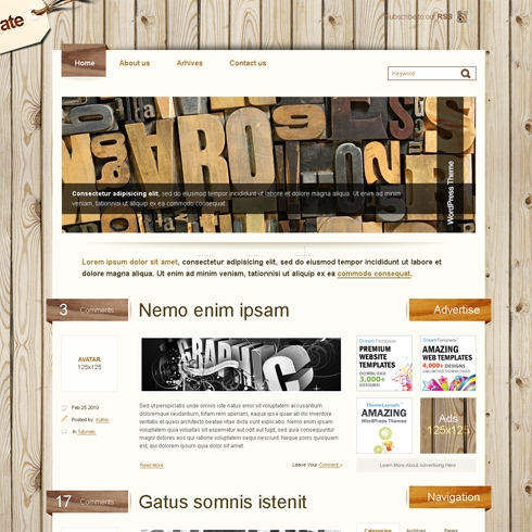 Template Image for WoodenHouse - WordPress Theme