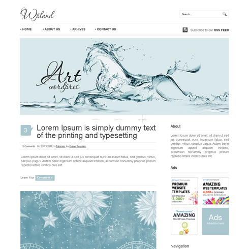 Template Image for WhiteStar - WordPress Theme