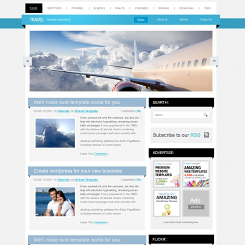 Template Image for Traveller - WordPress Template