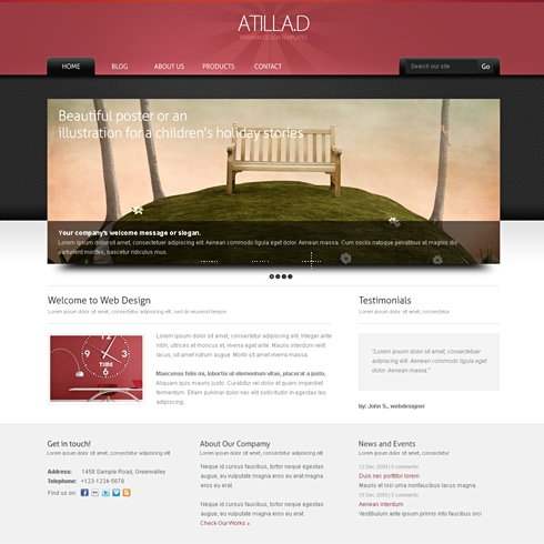 Template Image for Prestige - WordPress Theme