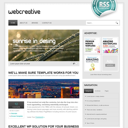 Template Image for WebCreative - WordPress Template