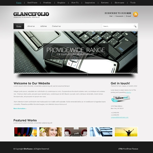 Template Image for GlanceFolio - WordPress Theme