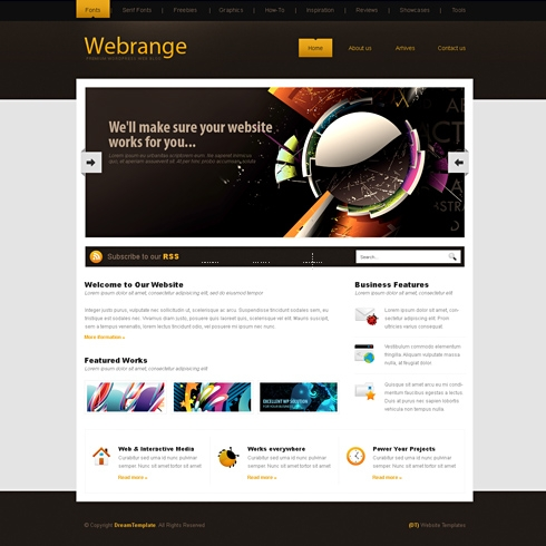 Template Image for WebRange - WordPress Template