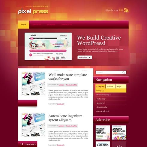 Template Image for PixelPress - WordPress Theme