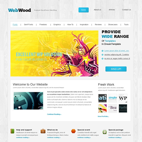 Template Image for WebWood - WordPress Template