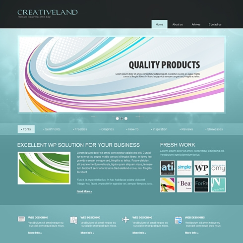 Template Image for CreativeLand - WordPress Theme