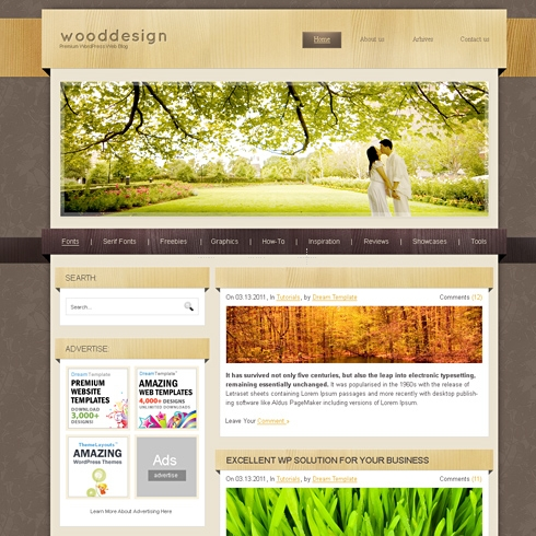 Template Image for WoodDesign - WordPress Theme