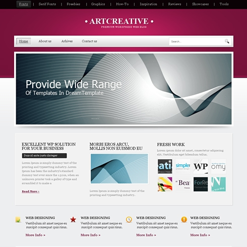 Template Image for ArtCreative - WordPress Template