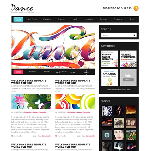 Template Image for DanceBlitz - WordPress Theme