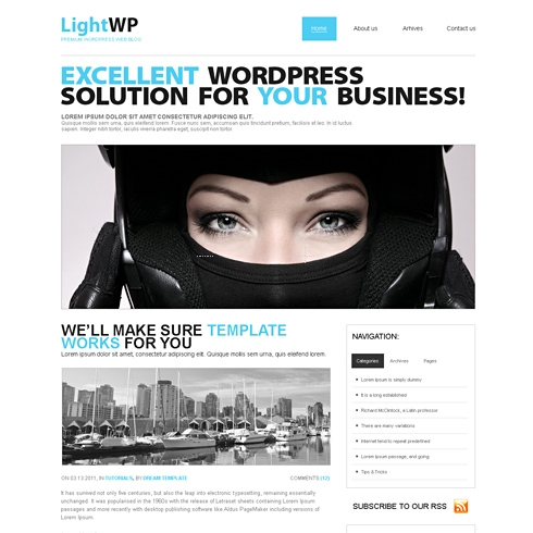 Template Image for Lightwp - WordPress Template