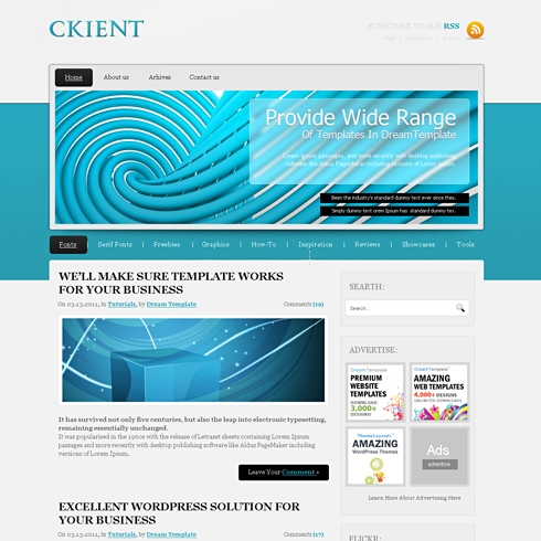 Template Image for Ckient - WordPress Template