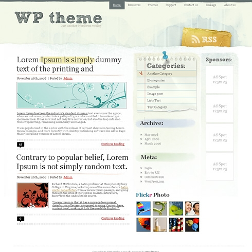 Template Image for ModernBlix - WordPress Theme