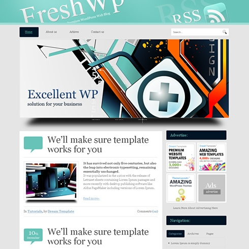 Template Image for FreshWp - WordPress Template