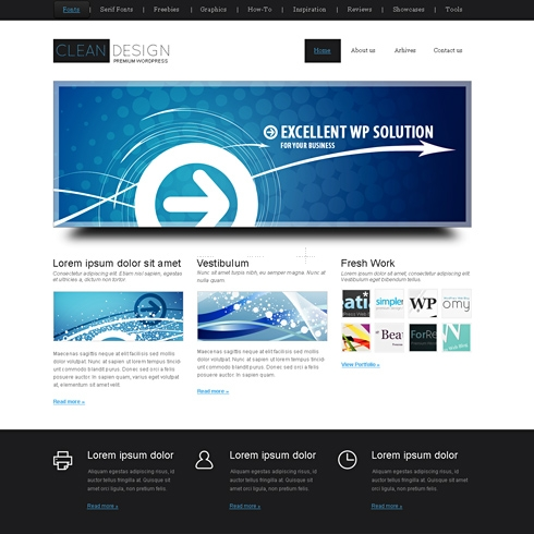 Template Image for CleanDesign - WordPress Template
