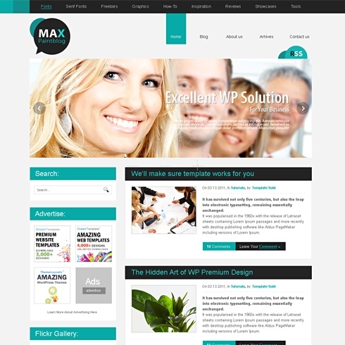 Template Image for MaximumForce - WordPress Template