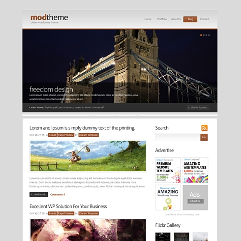 Template Image for ModDesktop - WordPress Theme