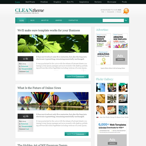 Template Image for CleanOne - WordPress Theme