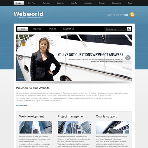 Template Image for WebWorld - WordPress Template