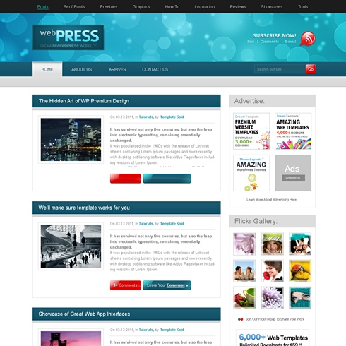 Template Image for WebPress - WordPress Template