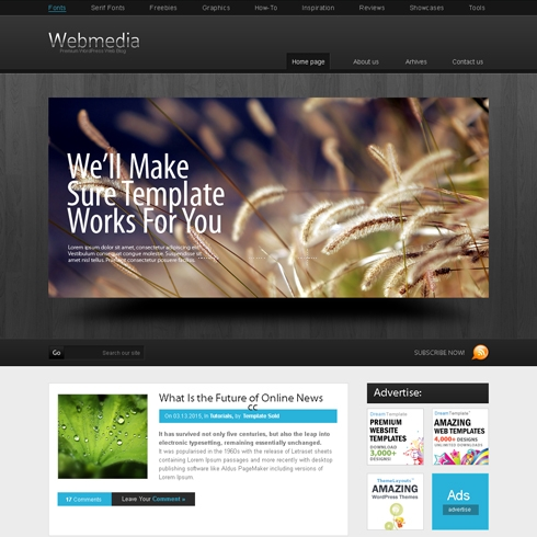 Template Image for WebMedia - WordPress Template