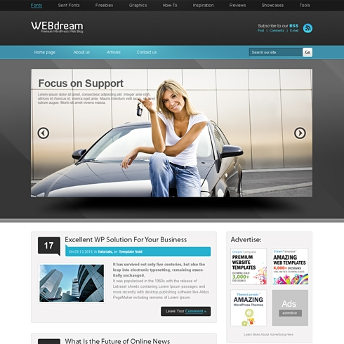 Template Image for WebDreams - WordPress Theme