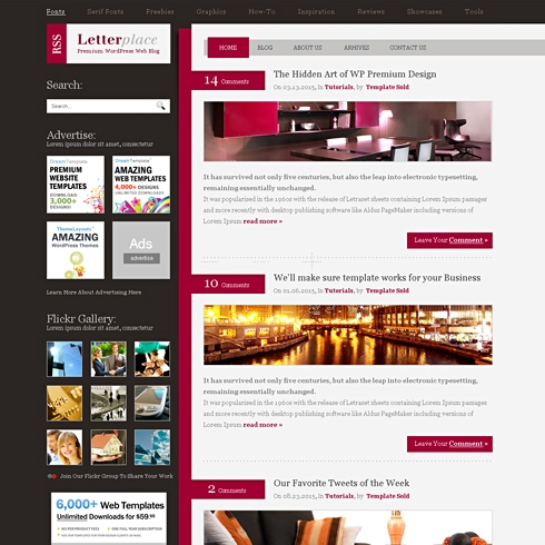 Template Image for SideLetter - WordPress Theme