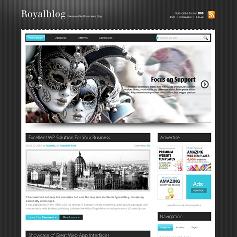 Template Image for Royal - WordPress Theme