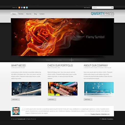 Template Image for QwertyPress -WordPress Template