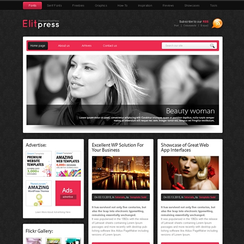 Template Image for PinkPanther - WordPress Template