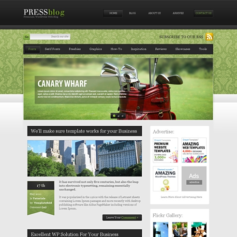 Template Image for OldTimer - WordPress Template