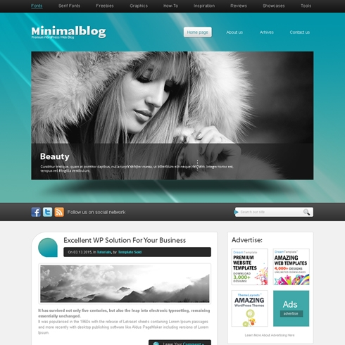 Template Image for MiniMal - WordPress Template