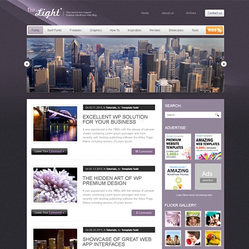 Template Image for LightStorm - WordPress Template