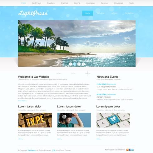 Template Image for LightPress - WordPress Theme