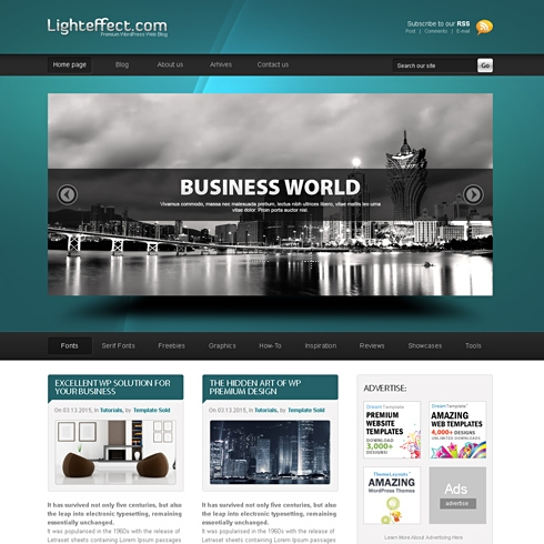 Template Image for LightEffects - WordPress Template