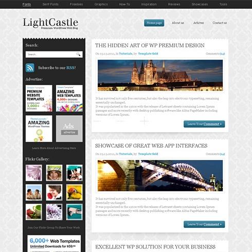 Template Image for LightCastle - WordPress Template