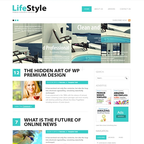Template Image for LifeStyle - WordPress Theme