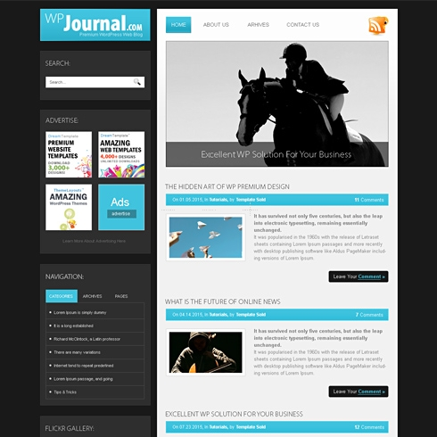 Template Image for Journal - WordPress Template