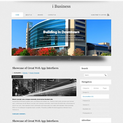 Template Image for iBusiness - WordPress Template