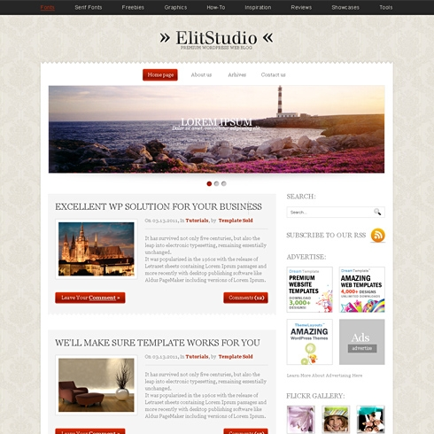Template Image for EliteStudio - WordPress Theme