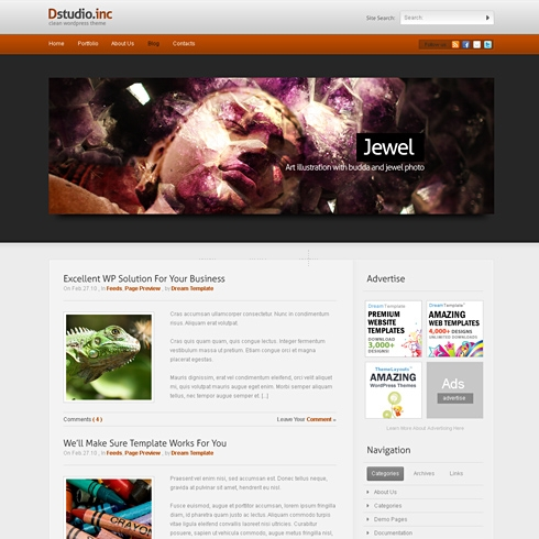 Template Image for dStudio - WordPress Template
