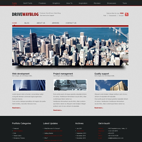 Template Image for DriveWay - WordPress Template