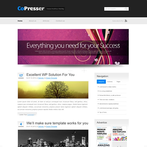 Template Image for Copress - WordPress Template