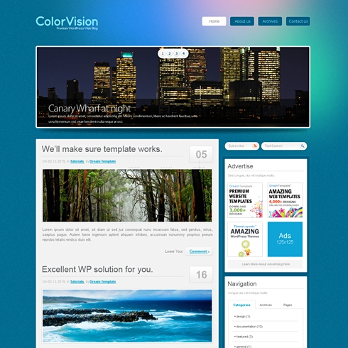 Template Image for ColorVision - WordPress Template