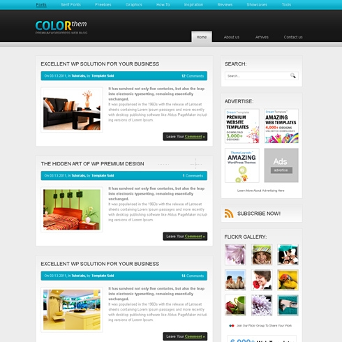 Template Image for ColorTheme - WordPress Template