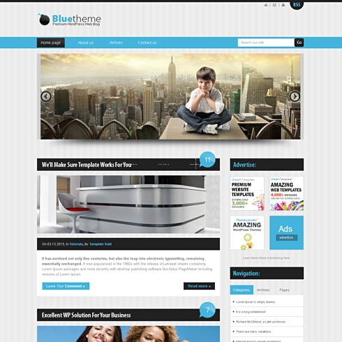 Template Image for BlueStripes - WordPress Theme