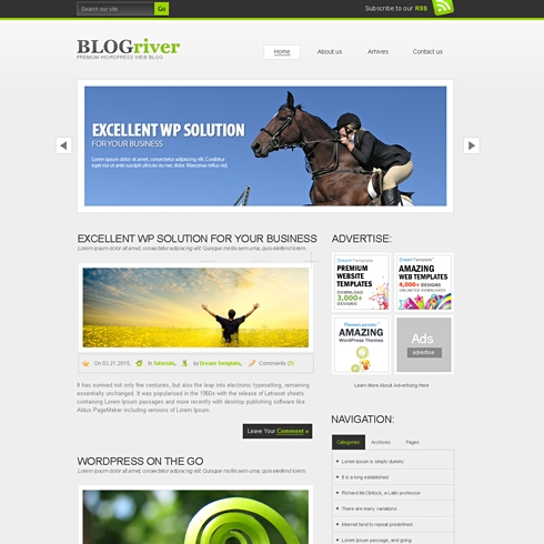Template Image for BlogRiver - WordPress Template