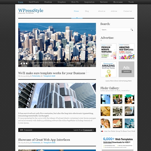 Template Image for Alumini - WordPress Theme
