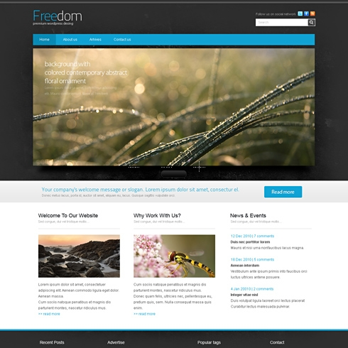 Template Image for Freedom - WordPress Template