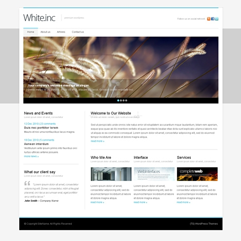 Template Image for WhiteInc - WordPress Theme