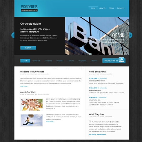 Template Image for KnightWood - WordPress Template